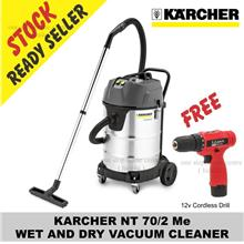 Gift Cordless Drill x1) KARCHER NT 70/2 Me WET AND DRY VACUUM CLEANER)