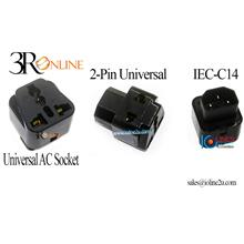 UPS IEC-320-C14 to 2*Universal Socket Power Adapter AC Plug AU US UK EU C13