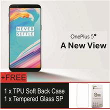 OnePlus 5T One Plus 5 T (Free Soft TPU Case & Tempered Glass S