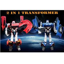2 in 1 Convertable Robot Transformer Toys Combo Gift Set