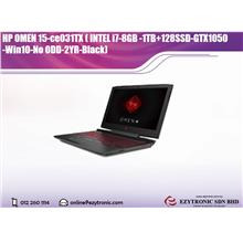 HP OMEN 15-ce031TX ( INTEL i7-8GB -1TB+128SSD-GTX1050 -Win10-No ODD-2Y