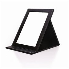 Portable Folding Leather Mirror