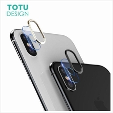 APPLE IPHONE X XS MAX 7 8 PLUS TOTU Camera Tempered Glass RING