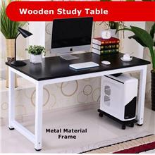 StudyTable Office - Wooden Office Table with Metal Frame