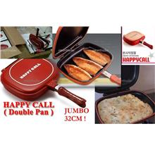 28CM/ 32CM Happy Call Non Stick Double Sided Fry / Grill Pan HappyCall