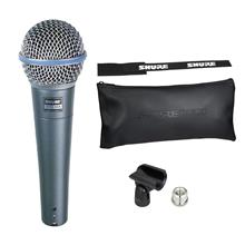 Shure Beta 58A Vocal Microphone With Mic clip, Adapter and Bag