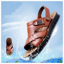 Men's Leather Sandals Slippers Shoes(37~44)L13082