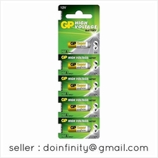 GP 27A 12V Alkaline Battery 5 pcs Pack MN27 Auto Gate Car Alarm Remote