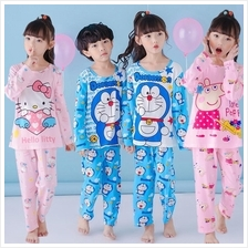 Children Kids Cartoon Long-Sleeved Cotton Sleepwear Pajamas Sets
