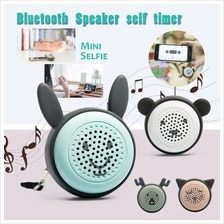 Selfie Mini Bluetooth Speaker for Phone Cute Portable Wireless Sound