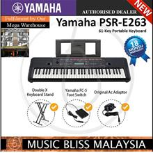 Yamaha PSR-E263 Keyboard with Stand and Pedal (PSRE263 / PSR E263)