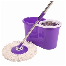 Spin Mop - Stainless Steel Pole with Microfiber Mop Head Set | Spin Mo