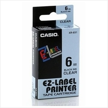 Genuine Casio XR-6 6mm Label Printer Tape Cartridge @ 5 Color Choice