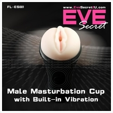 Eve Secret Vagina Aircraft Cup Toy with Vibration Sex Play for Men