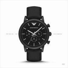 EMPORIO ARMANI AR1970 Men's Sport Watch Chronograph Leather Black