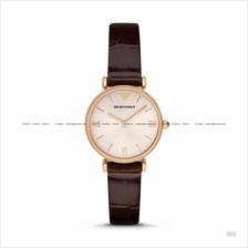 EMPORIO ARMANI AR1911 Women's Classic 2-hand Leather Pink Burgundy