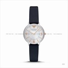 EMPORIO ARMANI AR2509 Women's Dress Watch 2-hand Leather MOP Navy
