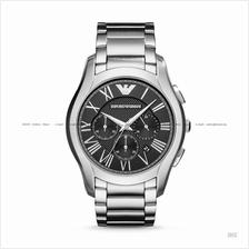 EMPORIO ARMANI AR11083 Men's Dress Watch Chronograph SS Bracelet Black