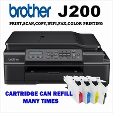 Brother MFC-J200 4in1 Wi-fi Printer with Short Refillable CISS
