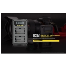 Nitecore USN1 Dual Slot Travel Charger for SONY NP-FW50 batteries