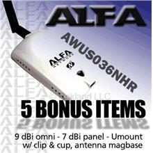 ALFA COMBO  AWUS036NHR v2 2000mW +7 & 9 dBi+Magbase+Y Cable
