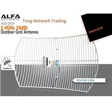 Alfa Network AGA-2424, Wifi 24 dBI Superior Performance Grid Antenna