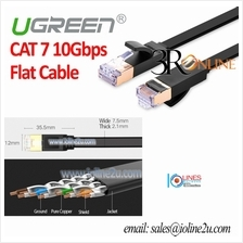 5m Ugreen Flat 10 Gigabit Cat 7 STP Patch cord LAN Cable Cat7 Gold plated Full
