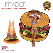 PRADO 180g Burger Round Beach Thick Towel Shawl Cover Hippie Yoga Mat