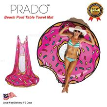 PRADO 180g Donuts Round Beach Thick Towel Shawl Cover Hippie Yoga Mat