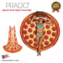 PRADO 180g Pizza Round Beach Thick Towel Shawl Cover Hippie Yoga Mat