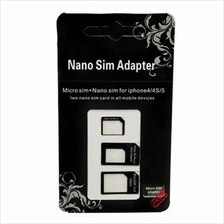2 Sets of 3-in-1 Nano SIM Adapter for Mobile Devices FREE Ejector Pin!
