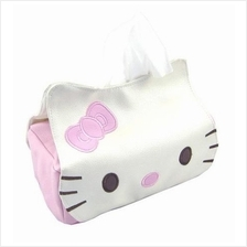 Cute Kitty Cat Leather Tissue Box