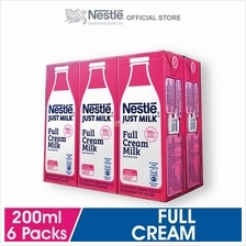 NESTLE Just Milk Full Cream Milk 6 Packs, 200ml Each