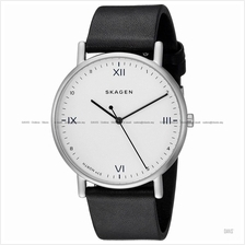 SKAGEN SKW6412 Men's x Playtype Signatur 3-hand Leather Strap Black SE