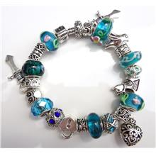 European Charm Bracelet Glass Beads Zircon Crystal VI