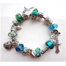 European Charm Bracelet Glass Beads Zircon Crystal IV