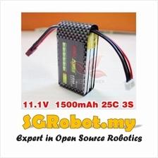 11.1V 25C 3S 1500mah Lipo Li-Po Rechargeable Lithium Battery