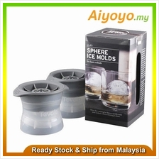 Tovolo Set of 2 Sphere Large Ice Molds Whiskey Cocktail Ice Cube Ball