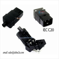 IEC-320-C20 AC Cable Mount Rewireable connector male Plug Pure copper 16A No s