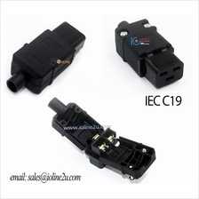 IEC-320-C19 AC Cable Mount Rewireable connector female Plug Pure copper 16A No