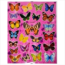 Butterfly Stickers X 5