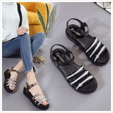 Women Fashion Stripe Design Casual Comfortable Sandals (2 Color) Sold ..