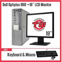 "Dell Optiplex 960 Desktop PC (Factory Refurbished) + 19"" LCD Monitor"