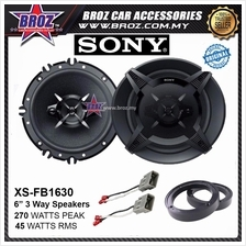 Wish Front Plug & Play Sony XS-FB1630 6.5 3 Way Coaxial Car Speaker