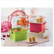 Tupperware Double Deep with Cariolier 1.7L - Red & Green