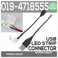 2pin 10mm PVC USB LED Strip Connector