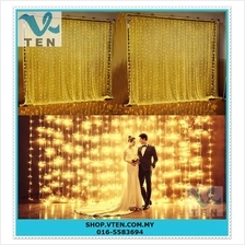 EU Plug 3mx3m 304LEDs Lights Flashing Lane LED String Curtain Light