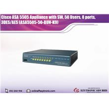 Cisco ASA 5505 Appliance with SW, 50 Users, 8 ports, 3DES/AES