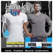 Hunks Padded Muscle Tee instant appearance and confidence boost shirt