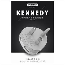 WK WP-U31 Kennedy Dual 2 Double USB Port 2.1A Quick Charge Charger